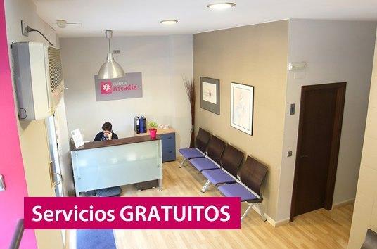 servicios gratuitos clinica arcadia